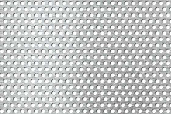 Edelstahl Lochblech (RV5/8), einseitig geschl. Korn 240 2 mm