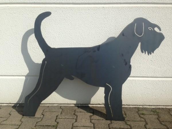 Hund-aus-Blech-Eisen-Metall-Tier-Silhouette